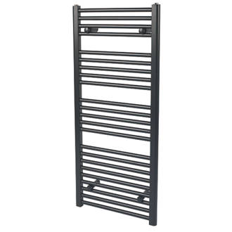 Reina Flat Ladder Towel Radiator Matt Black 1100 x 500mm 1908BTU