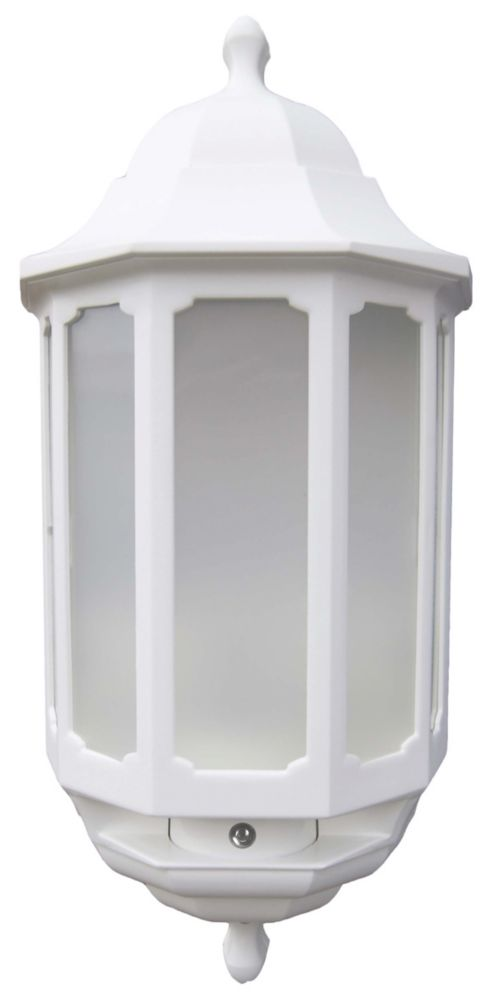 ASD LED Half Lantern LED with Photocell White 8.5W