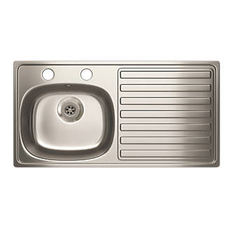 Carron Phoenix Kitchen Sink S/Steel 1-Bowl 940 x 485mm.