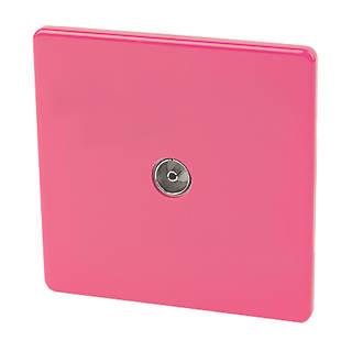 Varilight 1Gang Coaxial TV Socket Cerise Pink