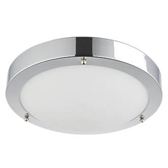 Screwfix Bathroom Lighting: Saxby Portico LED Bathroom Ceiling Light Chrome 9W   Bathroom Ceiling Lights    Screwfix.com,Lighting