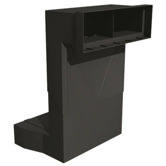 Telescopic Underfloor Vent Black 220mm x 215mm