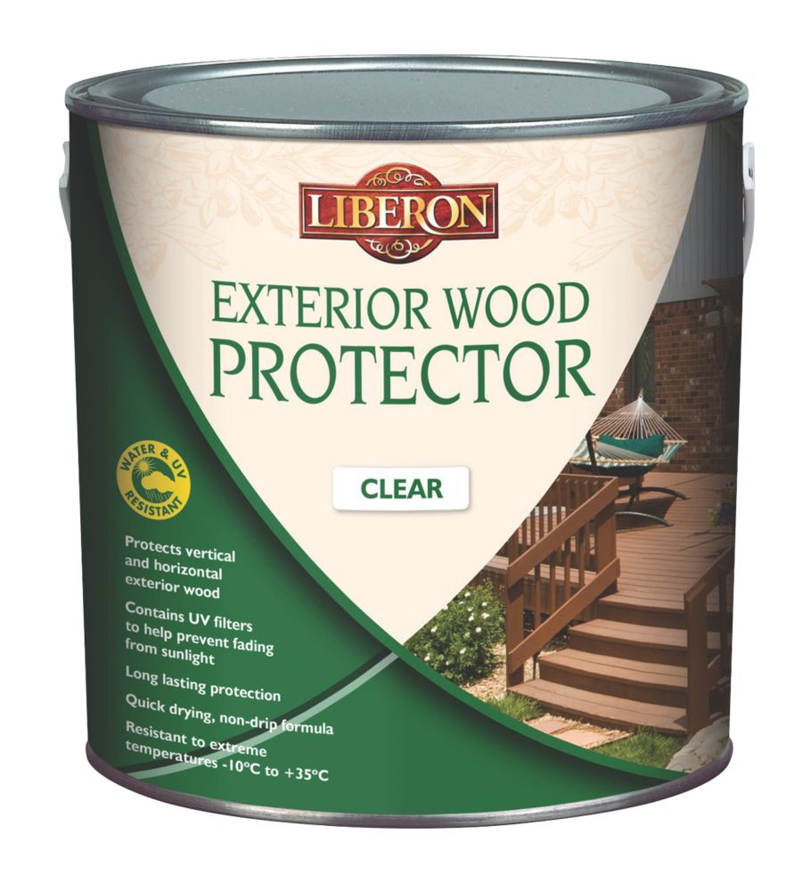 Image of Liberon Exterior Wood Protector Clear 5Ltr