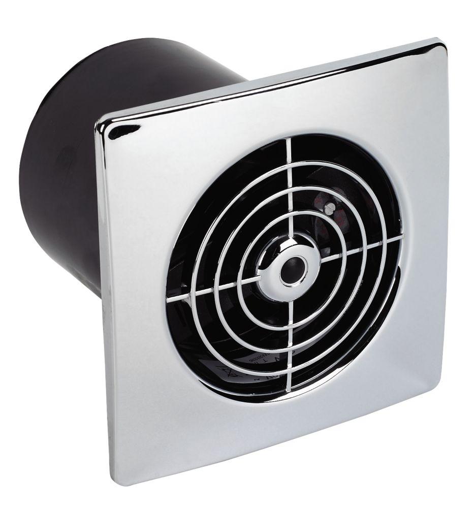 Bathroom Extractor Fan manrose lp100st 20w ceiling / wall mounted extractor fan + timer