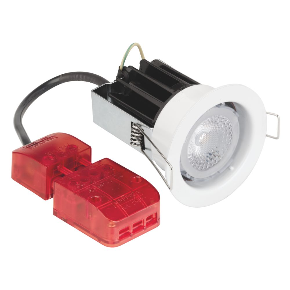 Aurora Fire Rated Fixed 40° Dimmable LED Downlight IP65 Silver 10W