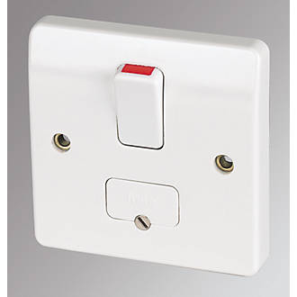 mk 13a 2 gang dp switched plug socket white switches sockets mk 13a dp switched fused connection unit flex outlet white