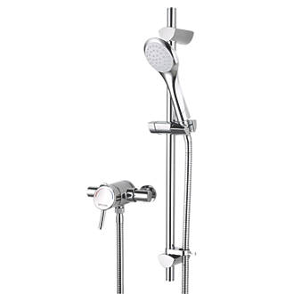 Bristan Acute Exposed Pressure Balancing Thermostatic Mixer Shower Chrome