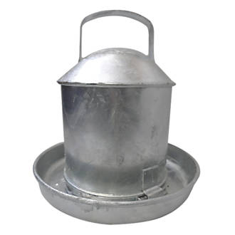 Stockshop Wolseley Galvanised Steel Poultry Drinker Self-Colour 2.25Ltr
