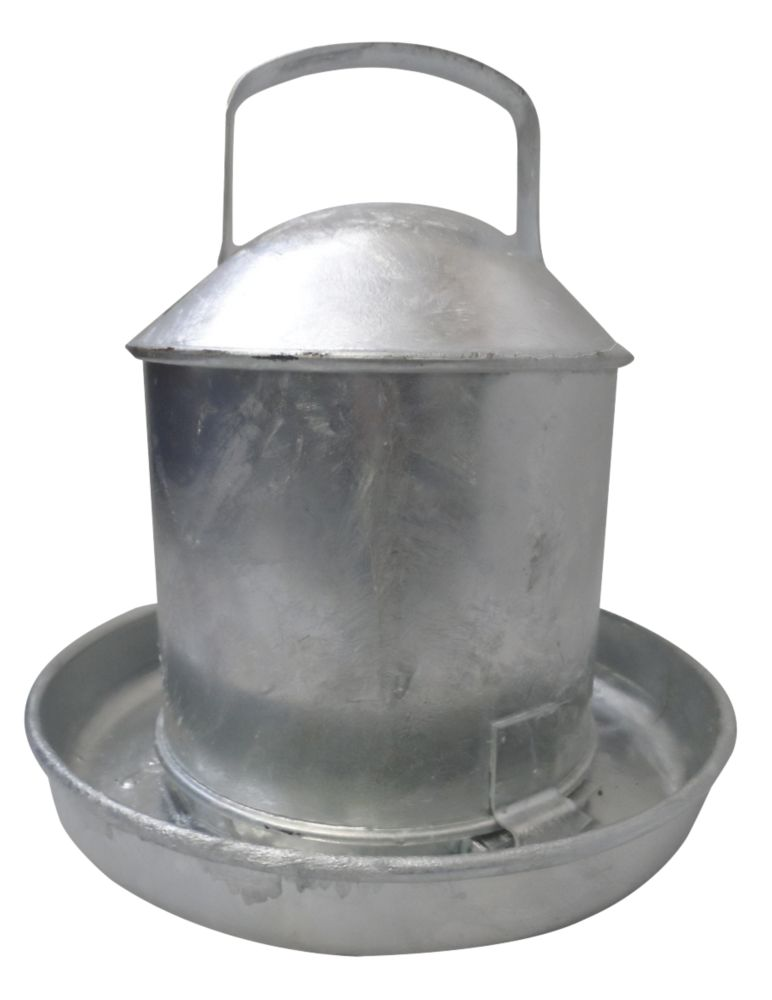 Image of Stockshop Wolseley Galvanised Steel Poultry Drinker Self-Colour 2.25Ltr
