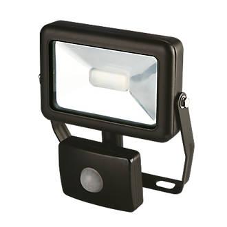 floodlights lighting screwfix com lap slimline led floodlight pir black 10w
