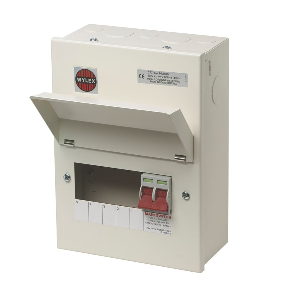 Image of Wylex 100A 5-Way Metal Consumer Unit