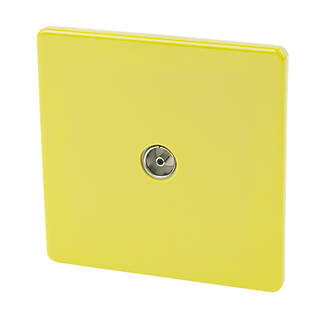Varilight 1-Gang Coaxial TV Socket Lime Green