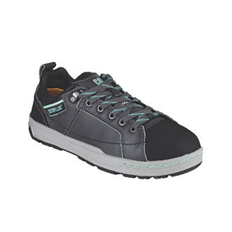 CAT Brode Ladies Safety Trainers Dark Grey / Mint Size 3