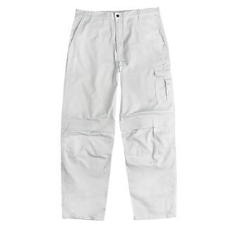 Site Painters Trousers White 34 W 32 L