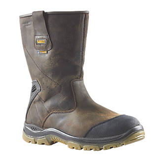 DeWalt Tungsten Waterproof Rigger Safety Boots Brown Size 7