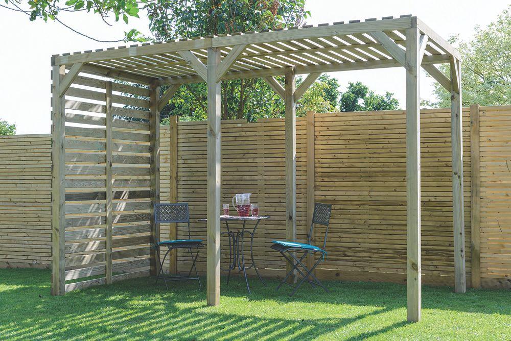 Grange Urban Garden Pergola Pressure Treated Green 18 x 18 x 24