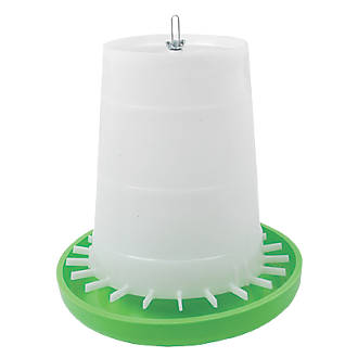 Stockshop Wolseley Plastic Poultry Feeder 280 x 300mm Green & White 6kg