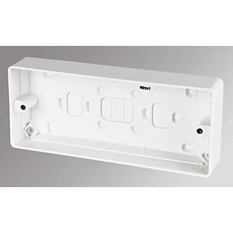 MK 3-Gang Surface Pattress Box White 30mm.