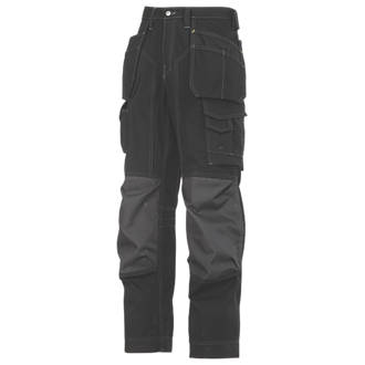 Snickers RipStop ProKevlar Floorlayer Trousers Black  Grey 36 W 30 L