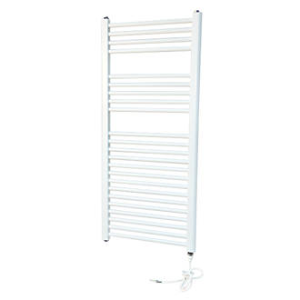 Flomasta Flat Electric Towel Radiator White 1100 x 500mm 853Btu