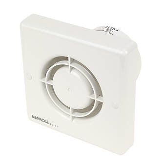 Manrose QF100H 5W Quiet Fan Bathroom Axial Extractor Fan wTimerHumidistat