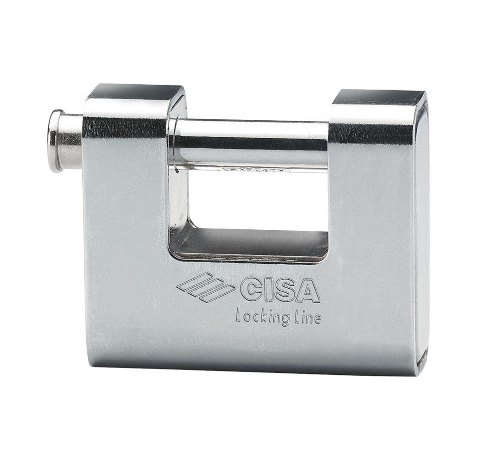 Cisa Brass Slide Bolt Shackle Padlock 66mm