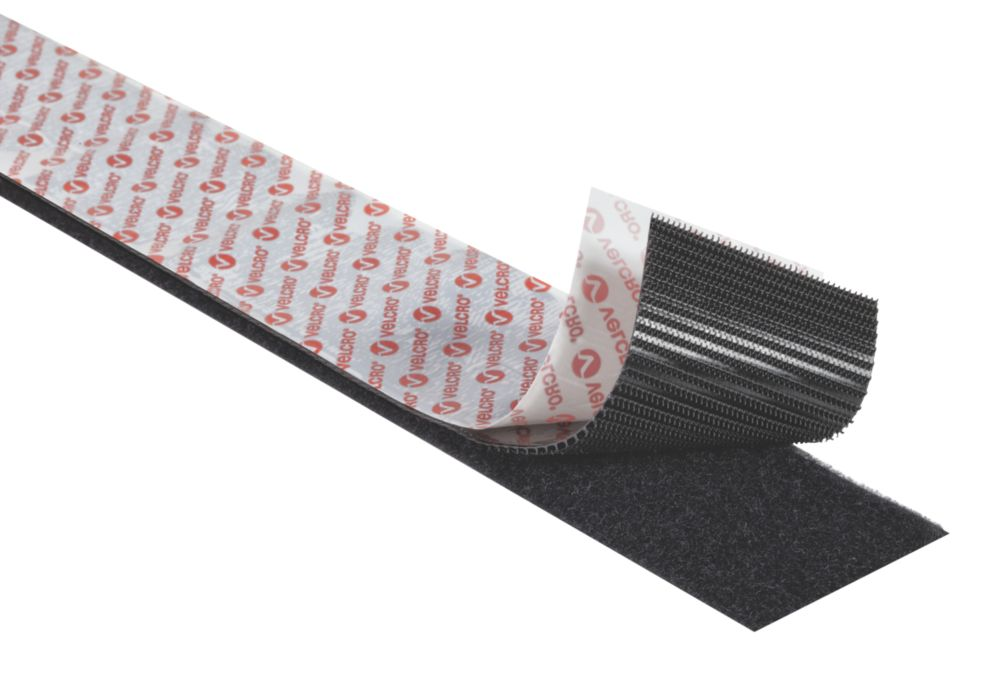 Velcro Brand Heavy Duty Stick-On Tape Black 50mm x 1m