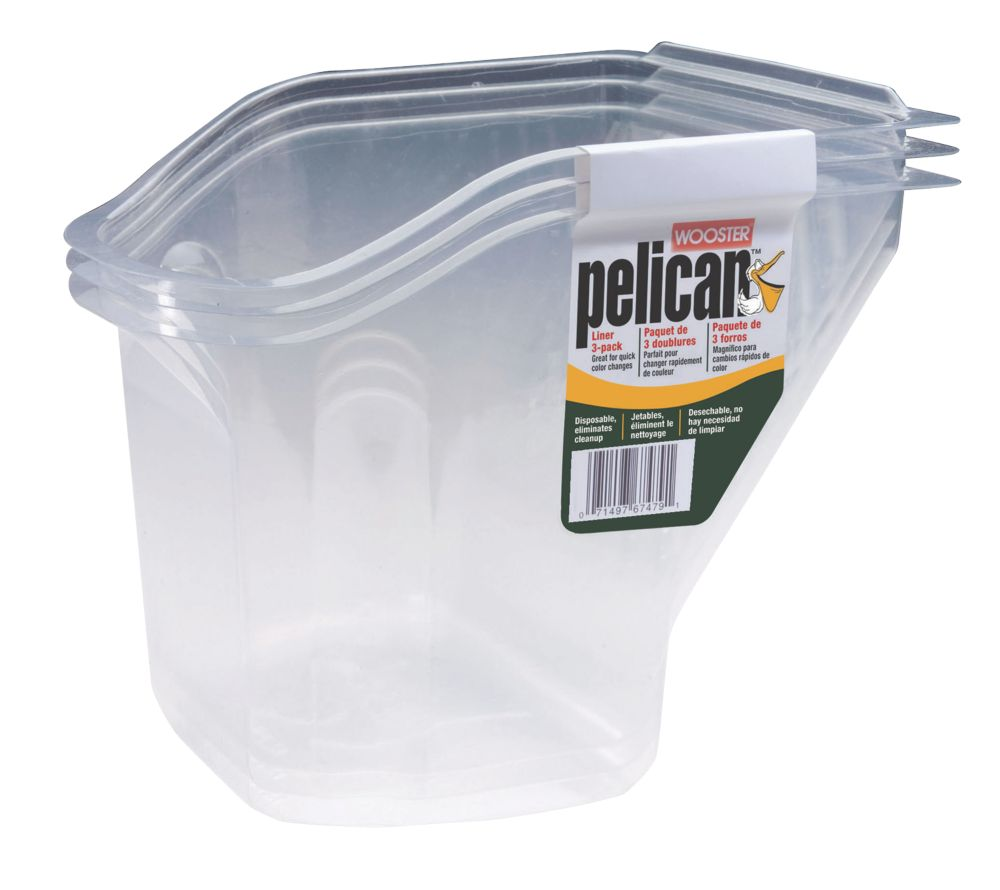 Image of Wooster Pelican Hand-Held Paint Scuttle Inserts 0.95Ltr 3 Pack