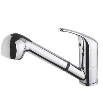 Swirl Pull-Out Spray Mono Mixer Kitchen Tap Chrome