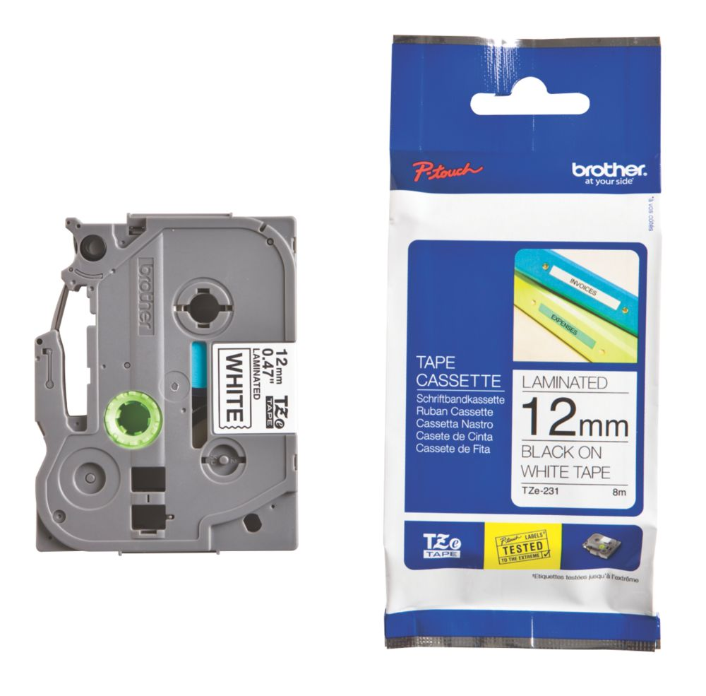 Image of Brother TZ E231 Cassette Tape 12mm