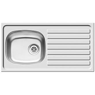 Pyramis Kitchen Sink Stainless Steel 1-Bowl 940 x 160mm