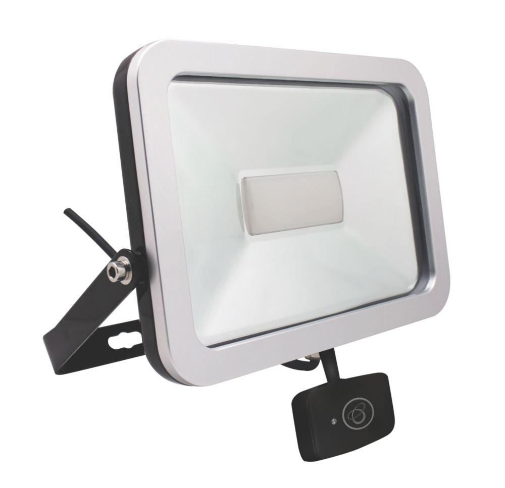 Brackenheath ispot Driverless LED Microwave Sensor Floodlight 50W Black