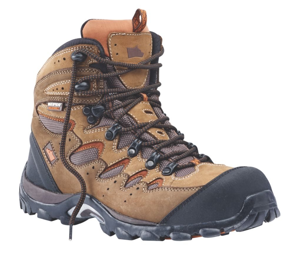 Hyena Eiger Comfort Safety Boots Brown Size 10   Safety Boots ...