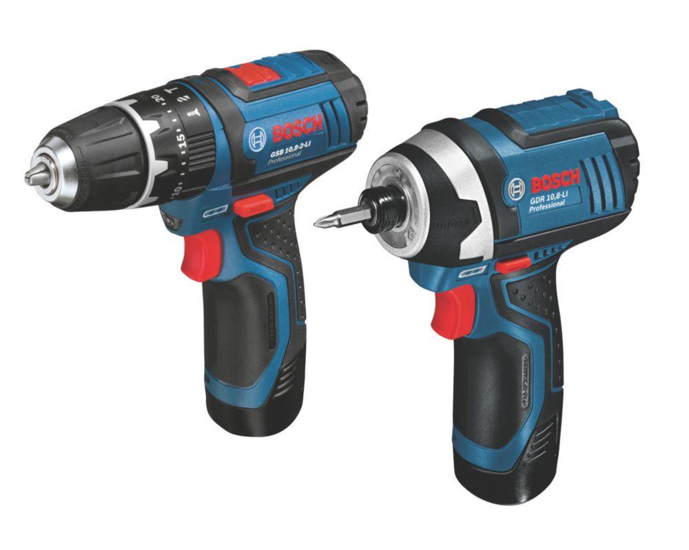 Bosch 108GSBGDR 10.8V 2.0Ah Li-Ion Twin Pack Combi Drill & Impact Driver