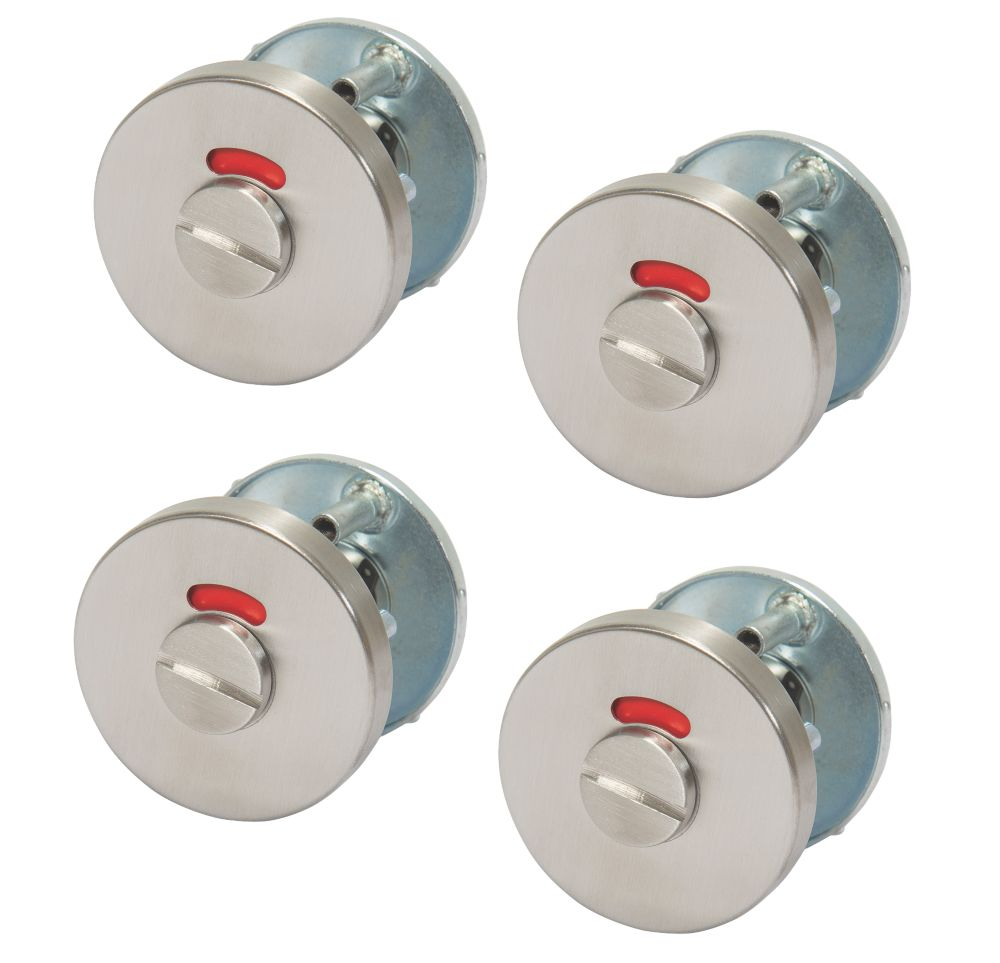 Dorma Thumbturn & Release with 8mm Indicator Satin Stainless Steel 55mm 4 Pack
