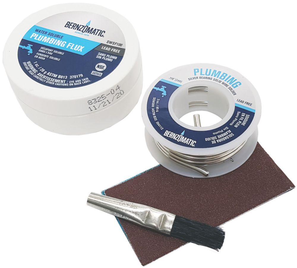 Bernzomatic Lead-Free Wire Solder & Soluble Flux