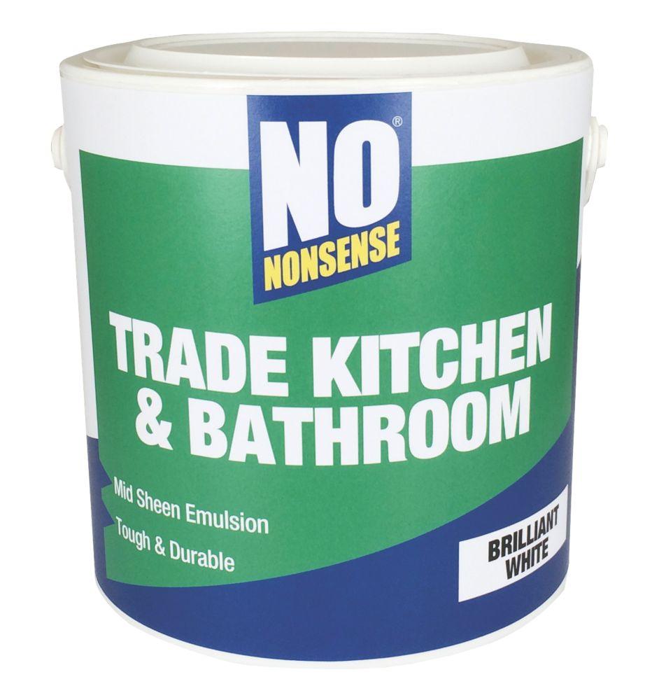 White Kitchen Emulsion no nonsense kitchen & bathroom emulsion paint brilliant white 2.5