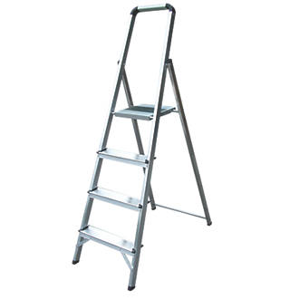 Lyte Platform Step Ladder Aluminium 4 Treads 1.09m