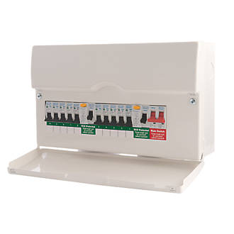 bg 10 way dual rcd metal consumer unit 10 mcbs domestic bg 10 way dual rcd metal consumer unit 10 mcbs domestic consumer units screwfix com