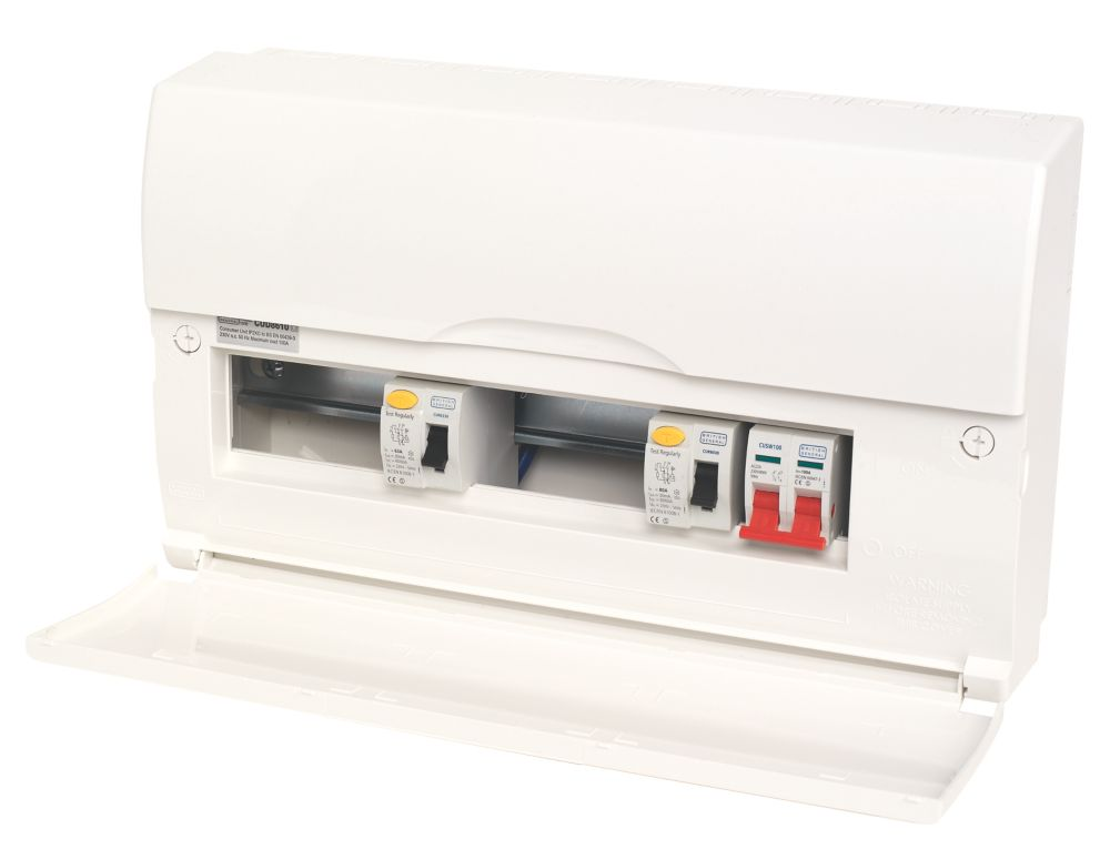 10-Way High Integrity Insulated Consumer Unit Dual 63A & 80A RCD