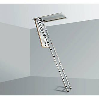Telesteps Telescopic Loft Ladder Aluminium SingleSection 10Tread