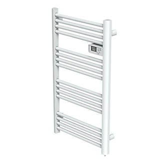 electric towel rails towel radiators screwfix com electric pre filled towel radiator white 980 x 550mm 800btu