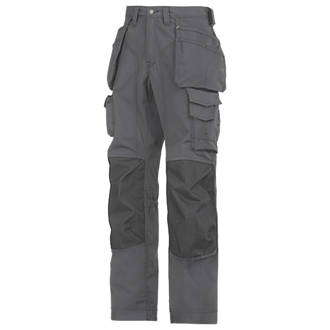 Snickers RipStop Floorlayer Trousers Grey  Black 33 W 32 L