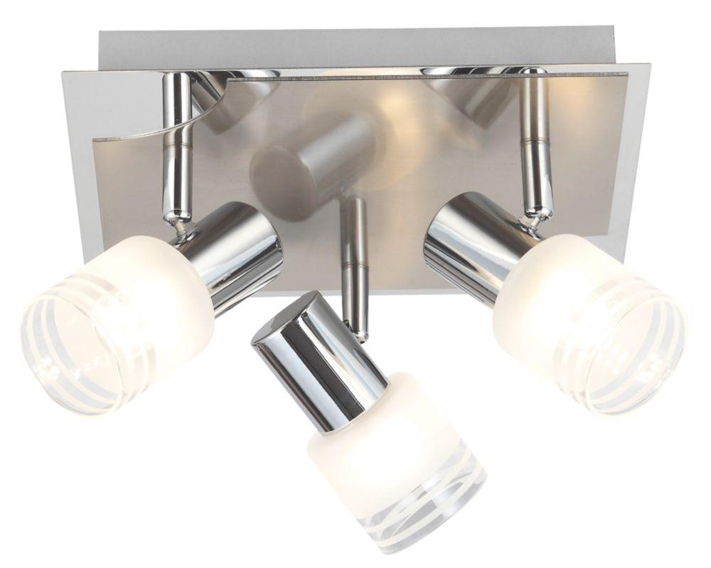 Brilliant 3-Light LED Spotlight Satin Chrome 675lm 5W