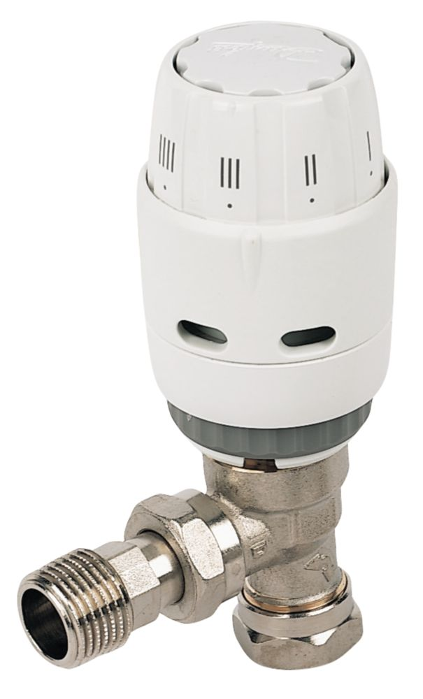 Danfoss RAS-C² White & Chrome Angled TRV 8/10mm