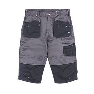 "Hyena Brecon Pirate Shorts Grey/Black 40"" W"