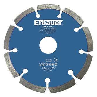 Erbauer Diamond Wall Chaser Blades 125mm Twin Pack