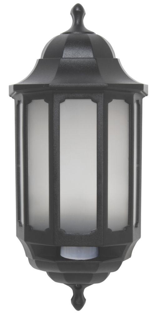 ASD Half Lantern LED with Hi-Lo PIR Black 283lm 8.5W