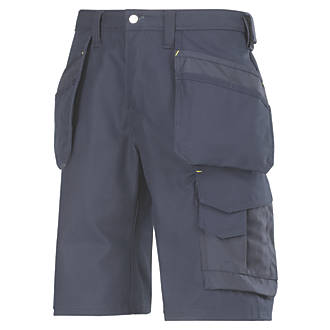 "Snickers Craftsmen 3014 Multi-Pocket Shorts Navy 35"" W"