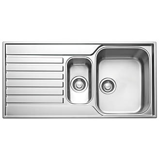 Franke Square Inset Sink S/Steel 1½-Bowl 1000 x 175mm